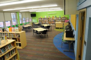 Manierre Elementary's new library - slated for closing